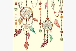 Dream Catcher feathers