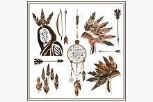 Set of ethnic style arrows