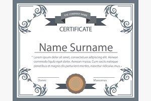Certificate template tape