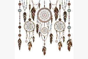 Set Dream Catcher feathers