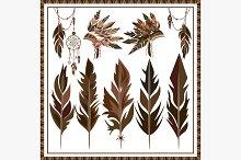 Set Dream Catcher feathers