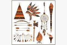 Set elements ethnic style beads
