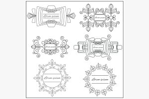 Set logos elegant ornament