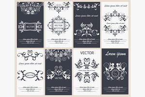 Set flyer design template