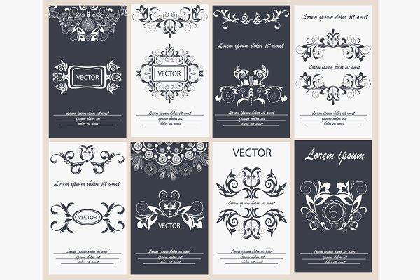 Set flyer design template