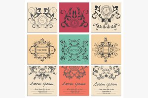 Set greeting cards