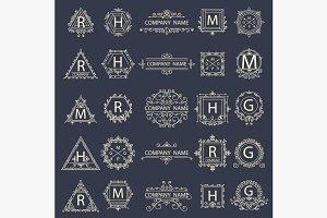 Set monogram company logos
