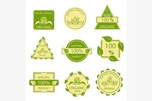 Organic natural emblems