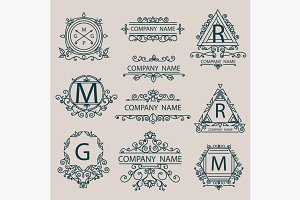 Set emblems, monogram