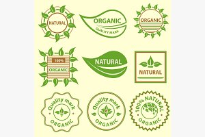 Organic products emblem