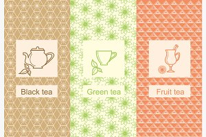 Set linear tea package ornamental