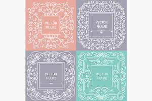 Ornamental frame monogram