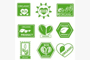 Organic products, leaflet logo