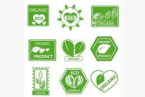Organic products, leaflet logo