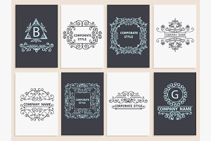 Design corporate cards ornamental