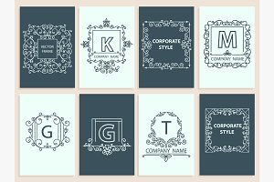 Set cards, ornamental logo
