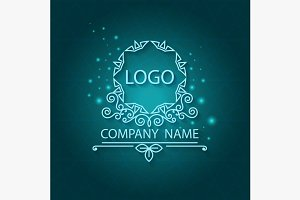 Shiny corporate style, pattern, logo