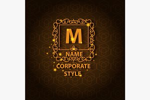 Shiny corporate style card