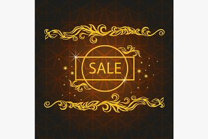Shiny sale card, pattern