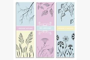 Decorative, floral, botanical card