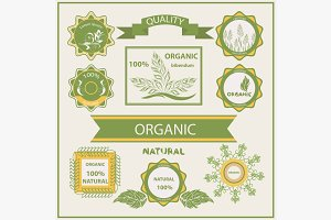 Organic products, labels, logo