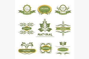 Organic elements, labels, logo