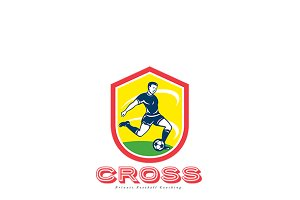 Cross Soccer Football Coaching Logo