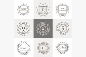Set logos, business signs ornament