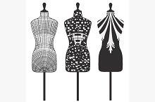 Set patterns female mannequins