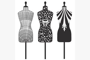 Set patterns female mannequins
