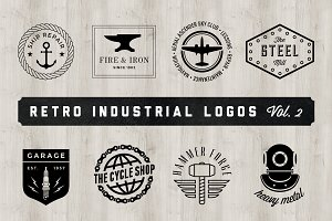 Retro Industrial Logos - Volume 2
