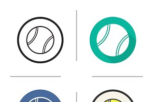 Tennis ball icons. Vector