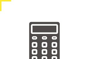 Calculator icon. Vector