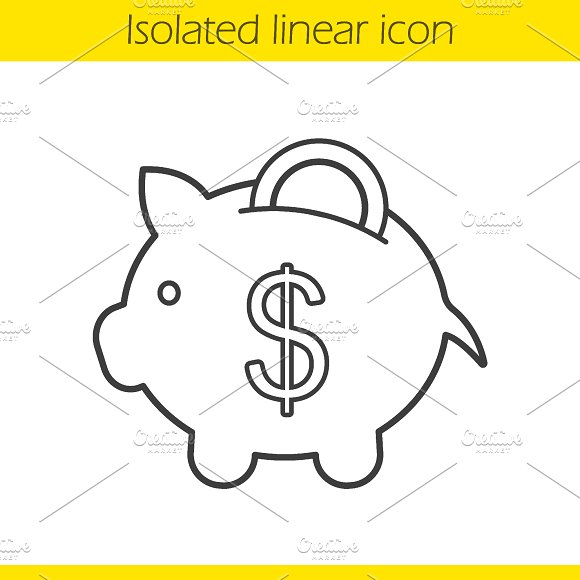 Piggy bank icon. Vector - Icons