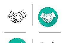 Handshake icons. Vector
