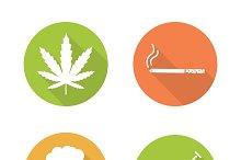 Bad habits icons. Vector