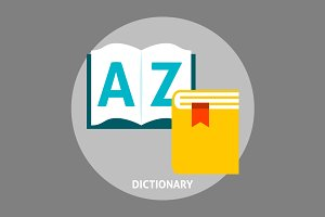 Dictionary book flat icon