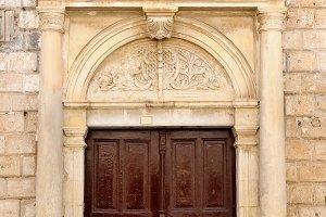 Old venetian door facade