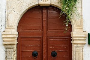 Old door in city of Rethymno, Crete