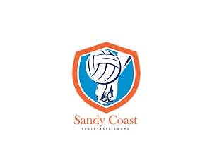Sandy Coast Volleyball Logo