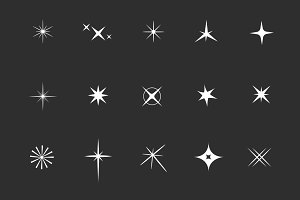 15 Sparkle Light Icons