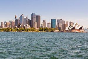 Skyline of Sydney Australia