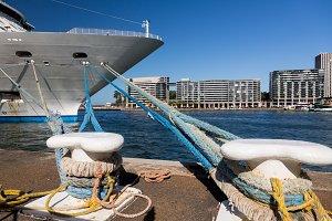 Cruise ship in Sydney harbor
