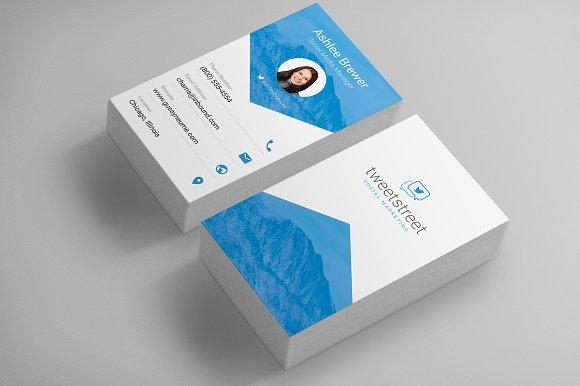 Sleek Material Design Business Card ~ Business Card Templates on ...