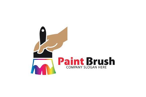 Paint brush logo logo templates on creative market for Painting decorating logos
