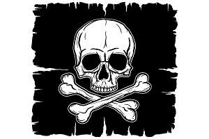 Skull with Crossbones Vector Set
