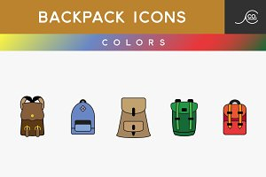 Backpack Icons Colors