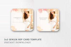 3x3 Senior Rep Card Template