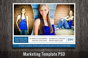 Photoshop Template Mini Session PSD