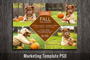 Fall Mini Session Template Marketing